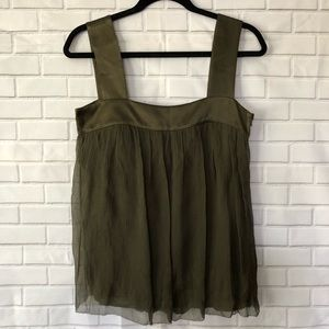 DKNY Silk Flowing Dressy Tank Top